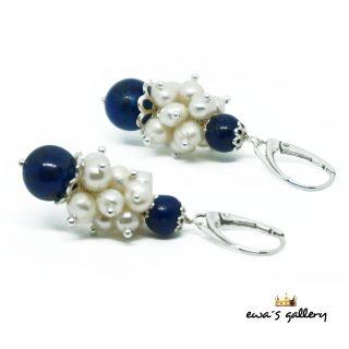 Náušnice – Lapis Lazuli   Perla – Striebro Ag 925 f0c771af94a
