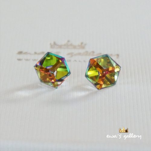 Náušnice Swarovski Kocky – Crystal VM / 8 mm