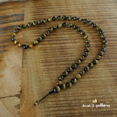 Pánsky náhrdelník Mala – Tigrie Oko / 8 mm