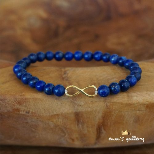 Náramok Lapis Lazuli – Infinity – Striebro Ag 925/1000