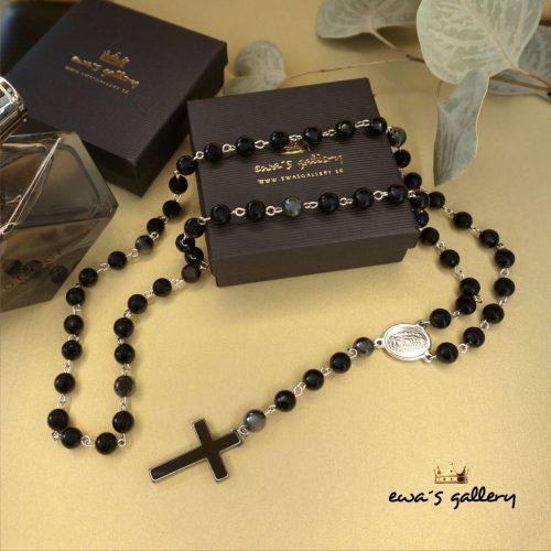 Pánsky Luxusný ruženec náhrdelník Onyx