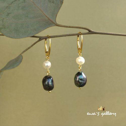 luxusné náušnice prírodné riečne perly a striebro