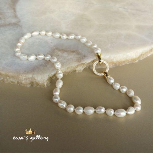 Luxusný náhrdelník s prírodnou riečnou perlou