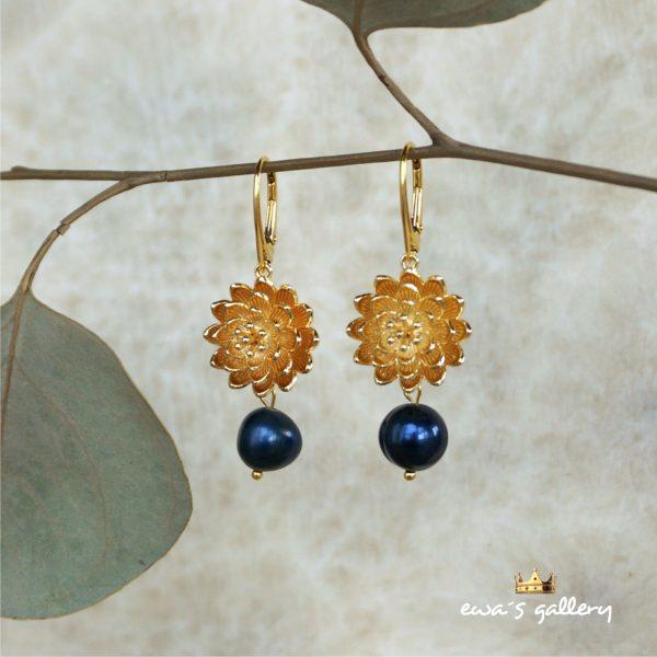 luxusné náušnice riečne perly prírodné a striebro ag 925/1000