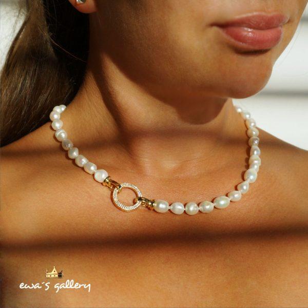 Luxusný náhrdelník z pravej prírodnej riečnej perly
