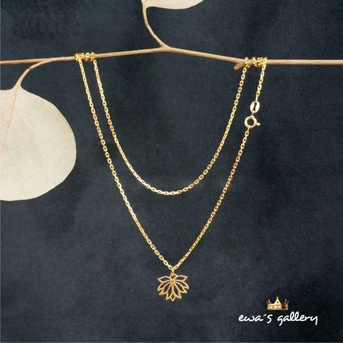 Náhrdelník retiazka na krk lotosový kvet