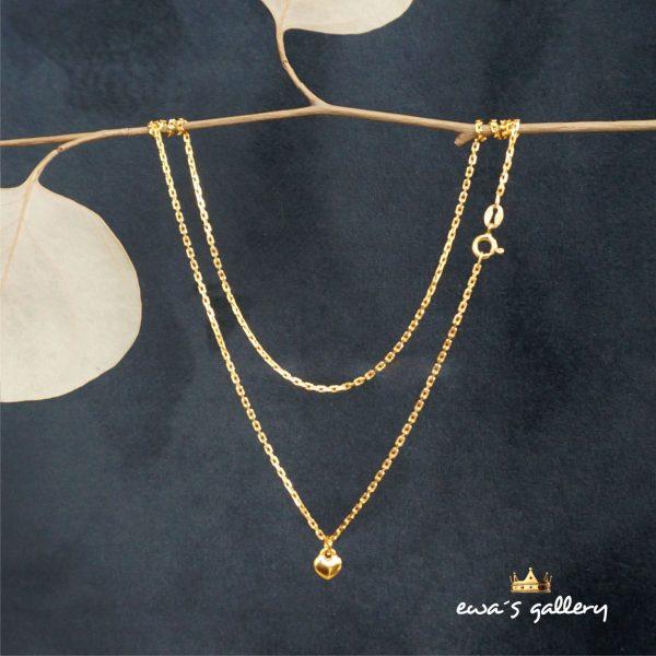 Jednoduchý náhrdelník retiazka na krk so srdiečkom Striebro Ag 925/1000