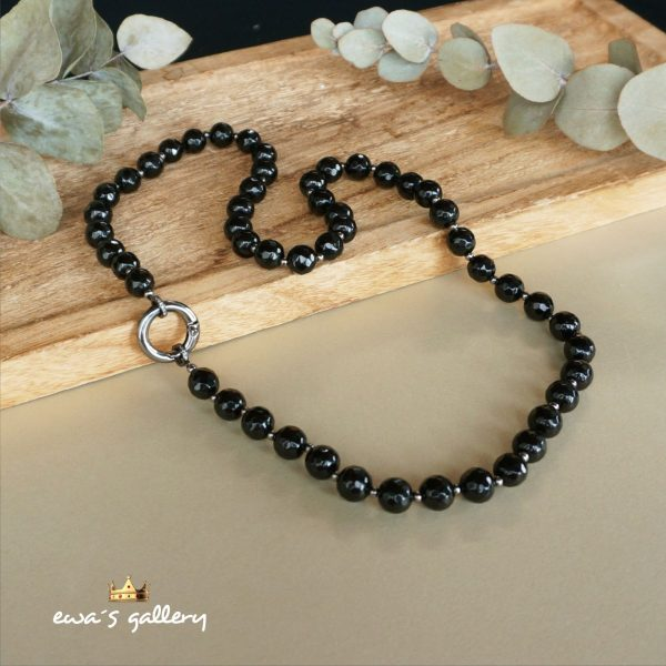Luxusný pánsky náhrdelník z prírodneho onyxu