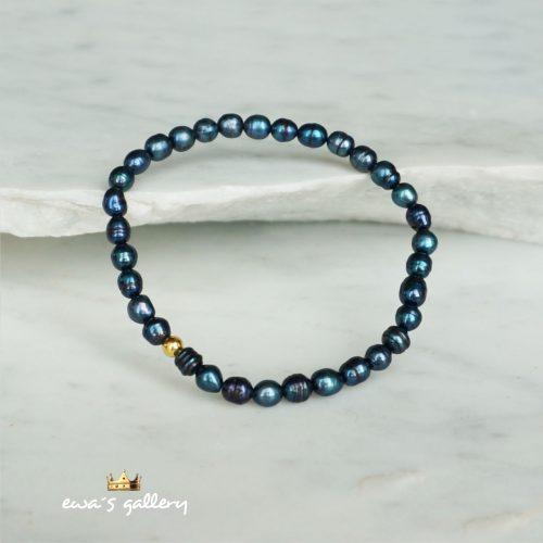 náramok čierna perla