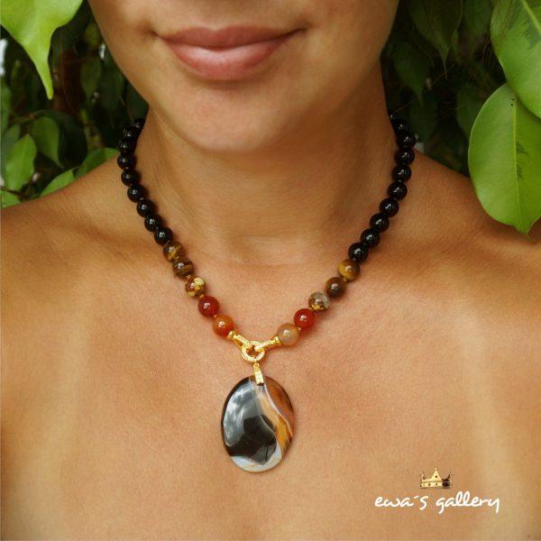náhrdelník necklace agate