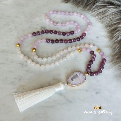 Malanecklace 108 beads gemstone